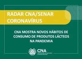 CNA mostra novos hábitos de consumo de produtos lácteos na pandemia